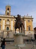 Capitoline Hügel Marcus Aurelius Lizenzfreie Stockbilder