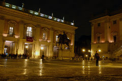 Capitoline Hill late night museum Royalty Free Stock Photo