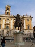 Capitoline Hill Marcus Aurelius Royalty Free Stock Images