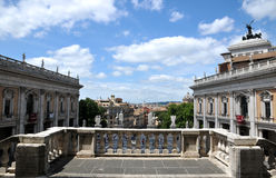 Capitoline Hill Piazza del Campidoglio form Pallazzo Senatorio. The centre of modern Rome designed by Michelangelo Stock Photo