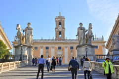 Capitoline Hill in Rome. Stock Image