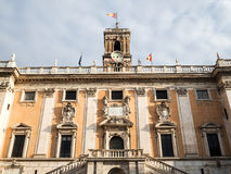 Capitoline Hill in Rome. The facade of the Capitoline Hill in Rome Royalty Free Stock Photos