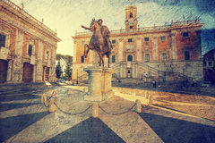 The Capitoline Hill. Rome. Royalty Free Stock Photo
