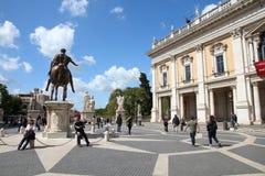 Capitoline kulle, Rome Arkivfoto