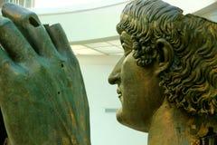 Capitoline museer av Rome: bronsstaty av Constantine Arkivbild