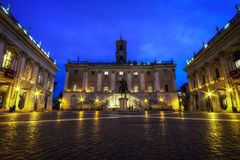 Capitoline Museum at night Stock Photography