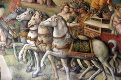 Capitoline Museums - Frescoe in the Hall of Hannibal Royalty Free Stock Photography