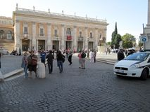 Capitoline Museums, Plaza del Campidoglio Rome Europe royalty free stock photo