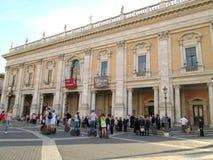 Capitoline Museums Plaza del Campidoglio Ρώμη Ευρώπη Στοκ Εικόνες