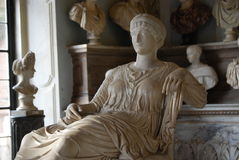 Capitoline Museums in Rome. Inside one of the rooms of the Capitoline Museums in Rome Stock Photo