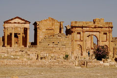 Capitoline Temples, Sufetula, Sbeitla, Tunisia Royalty Free Stock Photo
