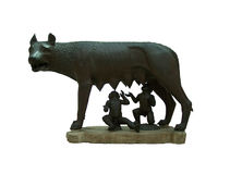 Capitoline Wolf. The original statue of Capitoline Wolf (Capitoline hill museum stock photo