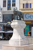 Capitoline Wolf statue in the Roman Square in Bucharest, Romania Royalty Free Stock Images