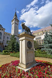The Capitoline Wolf statues (1924), Targu Mures, Romania Stock Images