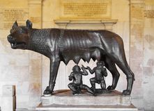 Capitolinewolf, Rome royalty-vrije stock afbeeldingen