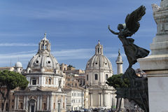 Capitolini and Churches Royalty Free Stock Photo