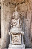 Colossal Statue of Sitting Rome: Cesi Roma Royalty Free Stock Photography