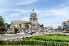 Capitolio在哈瓦那,古巴 免版税库存图片