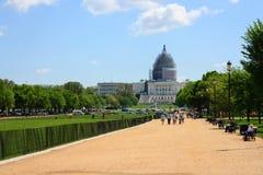 Capitolio bajo renovación imagen de archivo