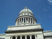 Capitolio Building  Havana Cuba. With blue sky Royalty Free Stock Images