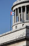 Capitolio and Cuban Flag in Havana Stock Image