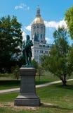 Capitolio de Hartford Connecticut y estatua de Putnam foto de archivo libre de regalías