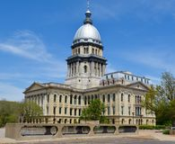 Capitolio de Illinois Imagenes de archivo