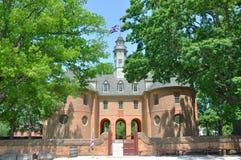 Capitolio de la colonia británica, Williamsburg Imágenes de archivo libres de regalías