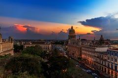 Capitolio de La Habana en la noche Imagen de archivo
