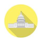 Capitolio de los E.E.U.U. del icono en un diseño plano libre illustration