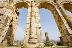 Capitolio de Volubilis Foto de archivo
