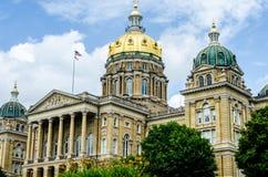 Capitolio del estado de Des Moines Iowa Imágenes de archivo libres de regalías