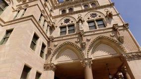 Capitolio del estado de Hartford CT del edificio del CT almacen de metraje de vídeo