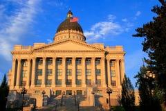 Capitolio del estado de Utah con la luz caliente de la tarde, Salt Lake City Foto de archivo libre de regalías