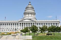 Capitolio del estado de Utah en la noche 1 fotografía de archivo