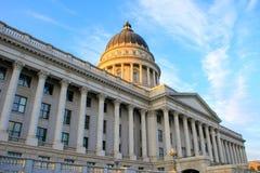 Capitolio del estado de Utah en Salt Lake City por la tarde Fotos de archivo libres de regalías