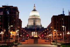 Capitolio del estado de Wisconsin Fotografía de archivo libre de regalías
