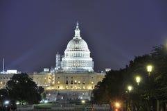 Capitolio en la noche Imágenes de archivo libres de regalías