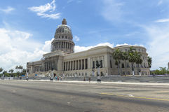 The Capitolio in Havana, Cuba. A view on a sunny day of the Capitolio, Havana, Cuba royalty free stock images