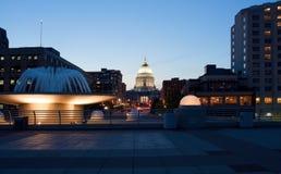 Capitolio Madison Wisconsin del estado Imágenes de archivo libres de regalías