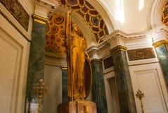 Capitolio Nacional, EL Capitolio L'interiore della costruzione 11-meter bronzano la statua di una donna, la dea della giustizia c Fotografia Stock