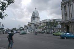 Capitolio nacional que construye a Havana Cuba Foto de archivo libre de regalías