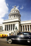 Capitolio and Old Car royalty free stock image