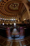 Capitolio parliament hall. Inner view of Capitolio hall in Havana Royalty Free Stock Photos
