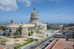 Capitolio que construye La Habana Imagen de archivo libre de regalías