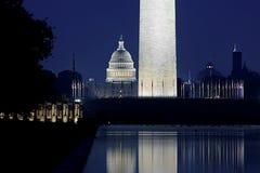 Capitolio reflejado Imagen de archivo libre de regalías