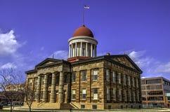 Capitolio viejo del estado de Illinois fotos de archivo