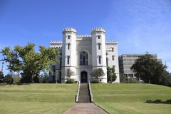 Capitolio viejo del estado en Baton Rouge céntrica Imagenes de archivo