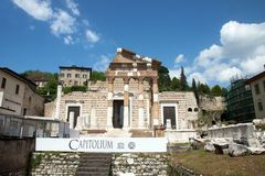 Capitolium, Brescia, Italy Royalty Free Stock Photo