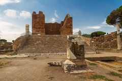 Capitolium and Forum at Ostia Antica Italy Stock Photo